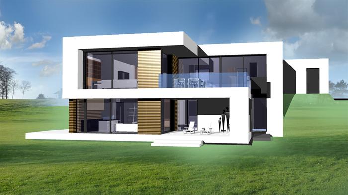 modernes haus. Black Bedroom Furniture Sets. Home Design Ideas