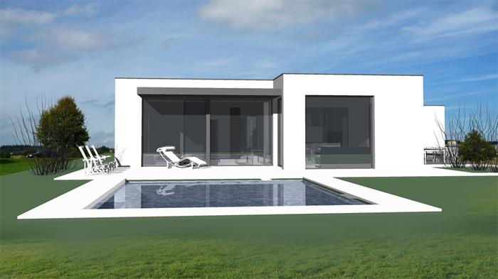 Fertighaus modern innen  DILINE Architektur